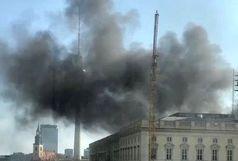 کاخ سلطنتی برلین آتش گرفت