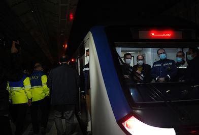 مانور آتش نشانی و اورژانس در متروی تجریش