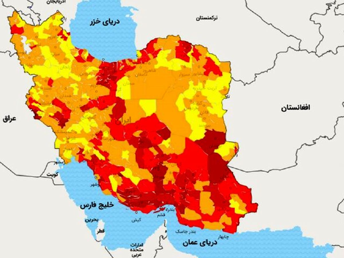 بررسی دقیق استانهای کشور در پیک پنجم کرونا (2)