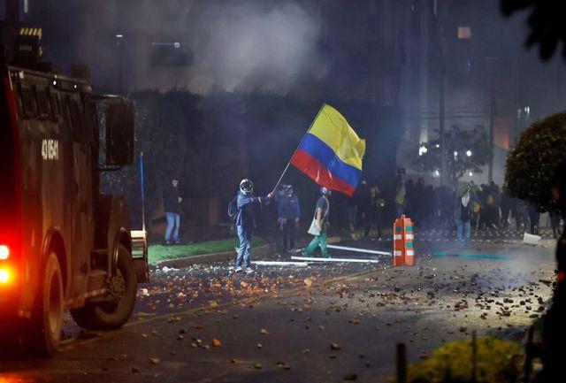 چهارمین روز متوالی اعتراضها در کلمبیا/ پلیس معترضان را سرکوب کرد