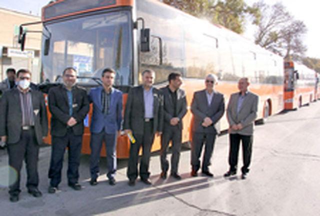 اعزام نخستین کاروان از ناوگان اتوبوسرانی همدان به مرز مهران