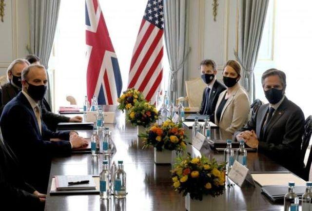 رایزنی وزیران امورخارجه انگلیس و آمریکا در حاشیه اجلاس گروه ۷