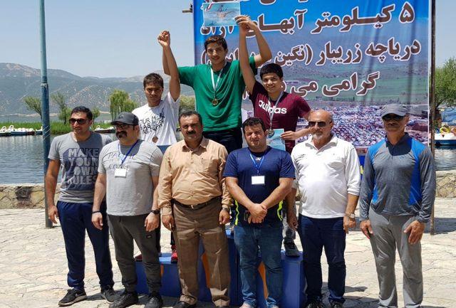قهرمانی اصفهان در مسابقات شنای آب های آزاد
