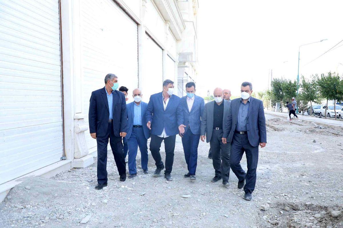 بازدید فرماندار شهریار  ،شهردار و اعضای شورای اسلامی شهر اندیشه از پروژه ورزشی خودنگار