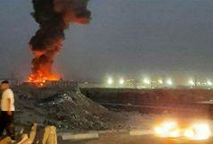 آتش سوزی گسترده درکارخانه لبنیاتی میهن اسلام شهر