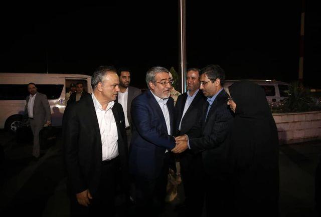 وزیر کشور وارد مشهد مقدس شد