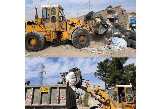 جمع آوری واحدهای آلاینده دپوی پسماند در شهرستان ری/ پلمب واحد آلاینده در پاکدشت