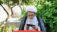 آیت الله مظاهری رای خود را در صندوق انداخت