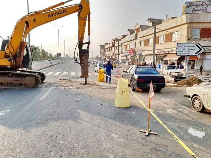 تردد در خیابان شقایق منطقه19 با رفع آبگرفتگی روانتر شد