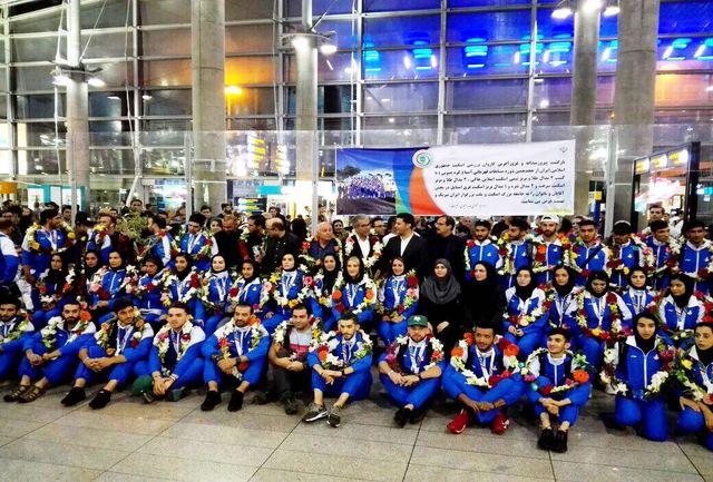 افتخارآفرینان اسکیت و اینلاین هاکی ایران وارد کشور شدند