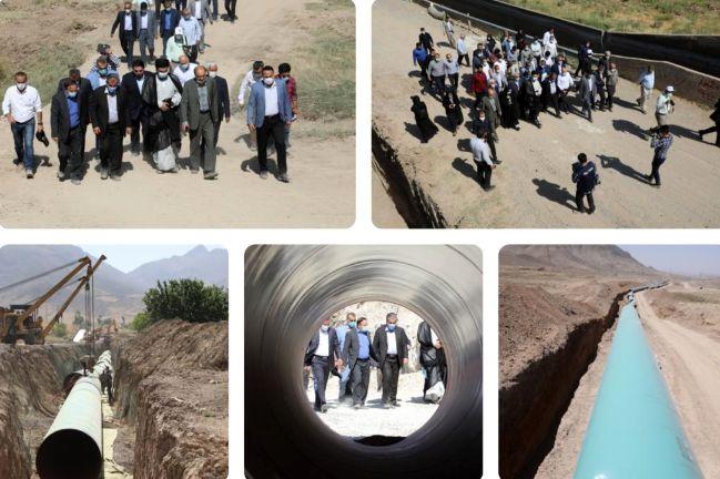استاندار قزوین از عملیات انتقال آب سد طالقان به آبیک بازدید کرد