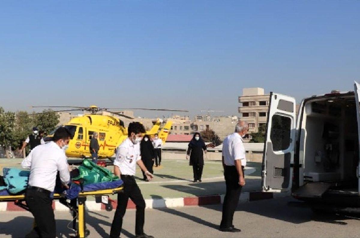 """نجات مادر باردار """"دیزینی"""" توسط اورژانس هوایی البرز"""