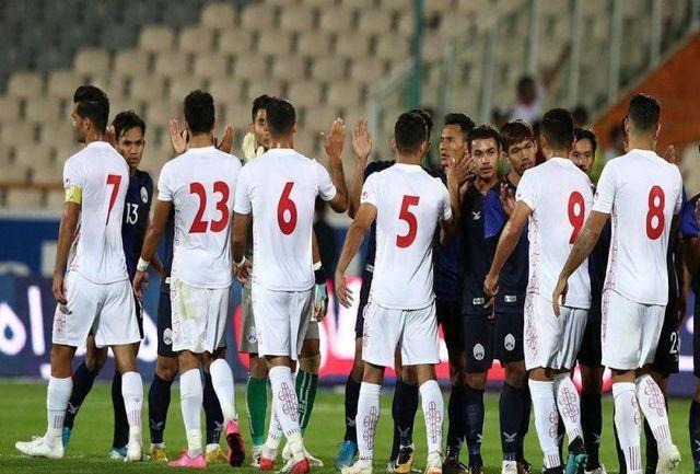 تیم ملی با ترکیبی دگرگون برابر کامبوج