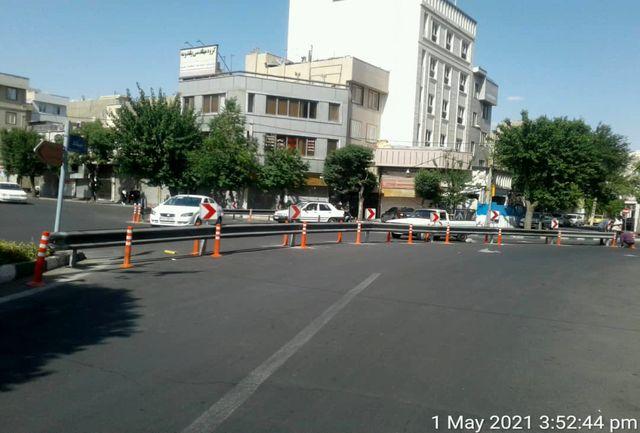 افزایش ایمنی و آرام سازی ترافیکی در یکی از تقاطعهای پرتردد
