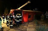 واژگونی اتوبوس در اصفهان ۹ کشته و ۱۸ مصدوم داشت