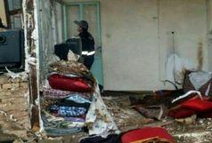 انفجار گاز شهری در خیابان مجاهد قزوین