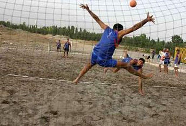 قهرمانی اصفهان در مسابقات هندبال ساحلی کشور