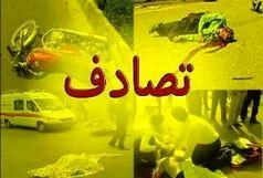 برخورد پراید با وانت پیکان در زنجان