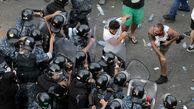 تظاهرکنندگان در بیروت به نیروهای امنیتی حمله کردند