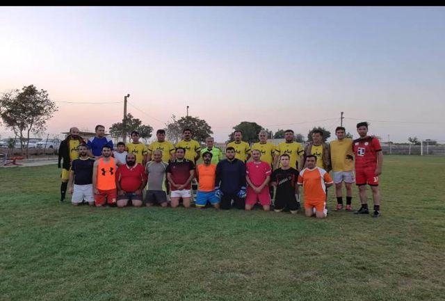 تیم فوتبال طلایه داران بوئینزهرا برای قهرمانی مجدد به میدان رفت