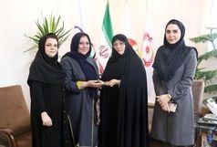 اهدای مدال تیم بسکتبال بانوان گروه بهمن به موزه ورزش