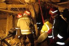 ریزش ساختمان قدیمی در بازار تهران/ احتمال وجود 4 کارگر در زیر آوار