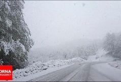 بارش برف بهاری در دیلمان