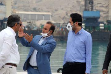 بازدید فرماندار پارسیان از روند پیشرفت بندر منطقه ویژه اقتصادی پارسیان