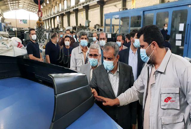 استاندار قزوین از چند واحد تولیدی در شهر صنعتی البرز بازدید کرد