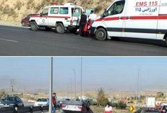 یک مصدوم در حادثه واژگونی پژو پارس در محور تهران - فیروزکوه