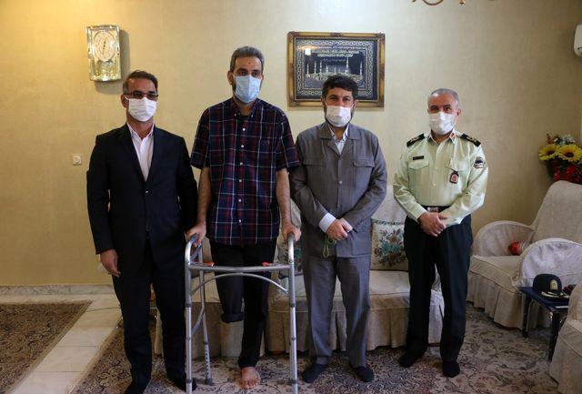 عیادت استاندار خوزستان از محیطبان جانباز در اهواز+ببینید