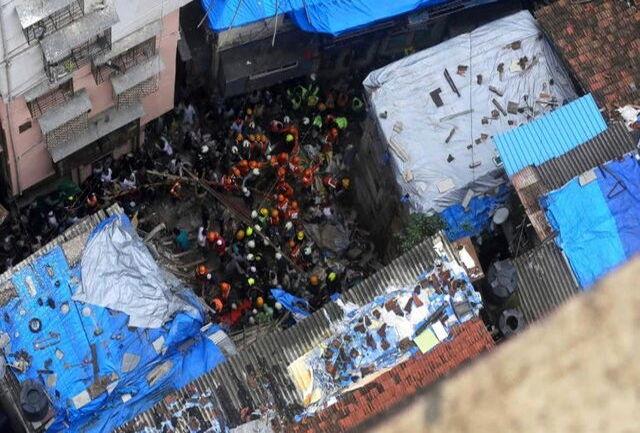 سقوط مرگبار یک ساختمان در بارندگیهای اخیر