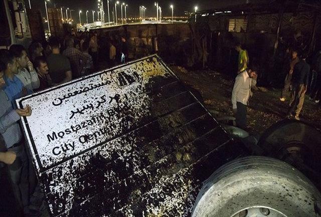 تصادف دلخراش و مرگبار اتوبوس مسافربری و تانکر سوخت در سنندج / ببینید