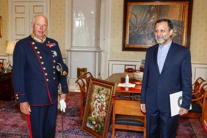 ابلاغ سلام هارالد پنجم پادشاه نروژ به رئیس جمهور کشورمان