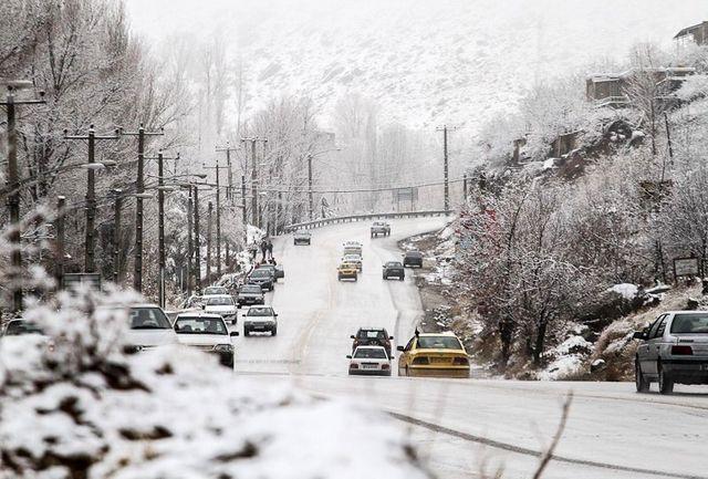 بارش سنگین برف در البرز باعث قطع برق برخی مناطق وتعطیلی مدارس آن شد