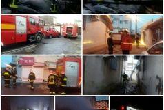 تلاش آتش نشانان در پی آتش سوزی خانه ویلایی در رشت