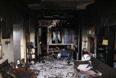 آتش سوزی ساختمان مسکونی در خیابان وصال!