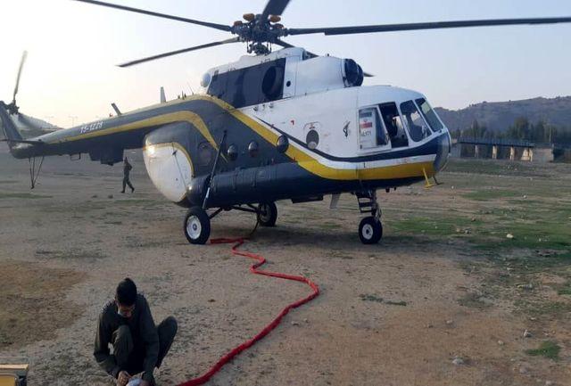 بالگردهای هلال احمر و سپاه برای اطفای حریق جنگلهای گلستان اعزام شدند
