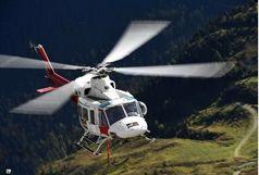 اعزام بالگرد برای نجات  کوهنورد سقوط کرده