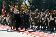 استقبال رسمی دکتر روحانی از رئیس جمهور عراق