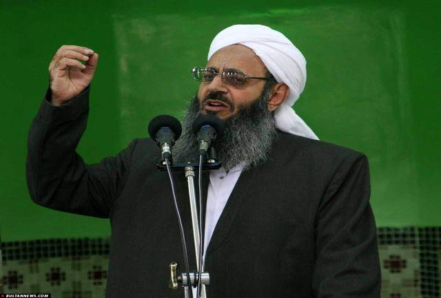 مولانا عبدالحمید حملات تروریستی تهران را محکوم کرد