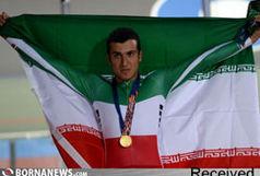 استقبال از قهرمان مسابقات دوچرخه سواری آسیا در مشهد