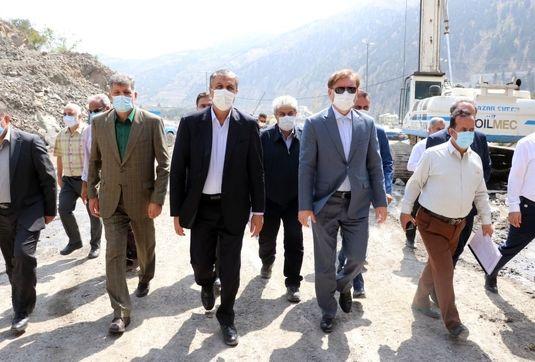 بازدید وزیر راه و شهرسازی از روند تکمیل پروژه آزاد راه رشت - قزوین و راه آهن رشت- کاسپین