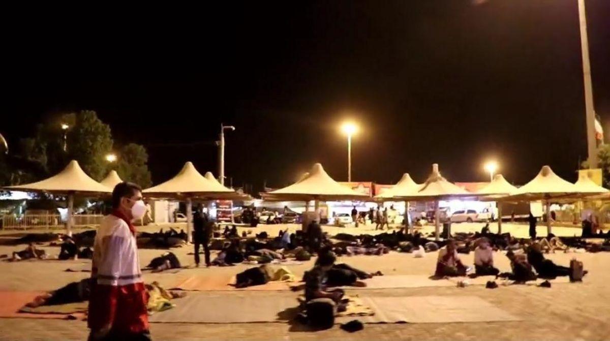 ۲ هزار و ۲۵۰ زائر در مهران اسکان یافتند