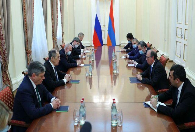 گفتگوی وزیران خارجه روسیه و ارمنستان درباره اجرای توافق قره باغ