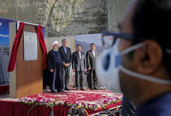 افتتاح  آزاد راه همت – کرج  با حضور دکتر روحانی
