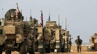 سنگباران کاروان نظامی آمریکا توسط مردم سوریه