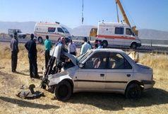 واژگونی ۴۰۵  در ورودی بجنورد دو مجروح برجا گذاشت