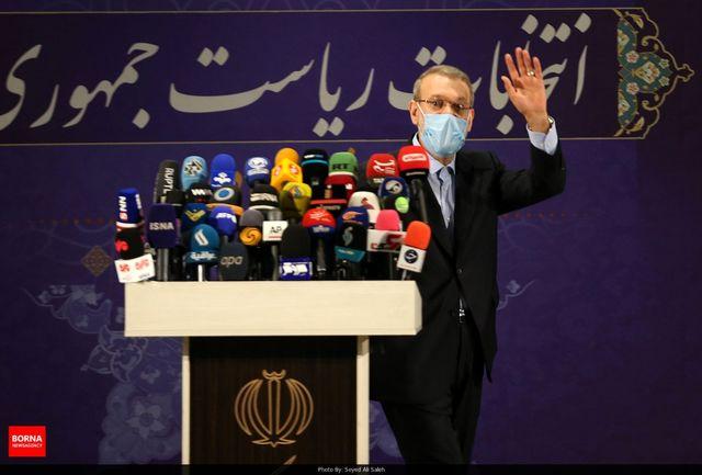اولین واکنش علی لاریجانی به خبر رد صلاحیتش
