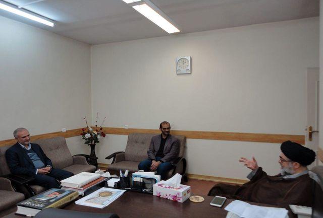 دیدار مدیرعامل آبفای منطقه6 شهرری با امام جمعه شهرستان ری